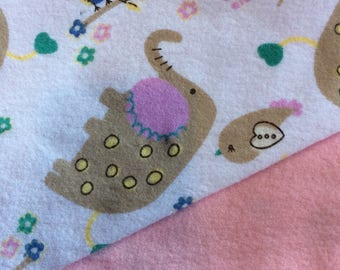 Flannel Pink Zoo Animal Blanket