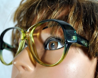 Vintage Playboy Oversize Sunglasses - Green Ombray -  Optical Frame  Made in Austria by Optyl