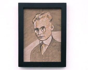 "Original portrait painting 5""x7"""