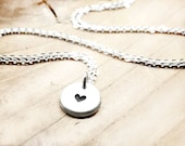 Tiny heart necklace, silver heart necklace, dainty heart, girlfriend gift for her, sterling silver, gift for mom, valentines day gift