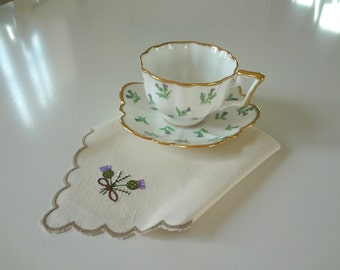 Scottish Thistle Cup Saucer Salisbury Bone China Porcelain Pattern Number 864332 Made in England - EnglishPreserves