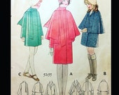 Vintage 20s Girls Cape Capelet Coat Sewing Pattern 5355 Size 6
