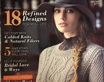 Knitting Magazine Interweave Knits Winter 2017 issue Autumn Escape Classic Knits Textured Heathers Traditional Wool Essential Tools