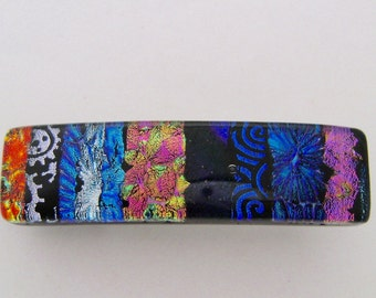 Very Small Dichroic hair barrette.