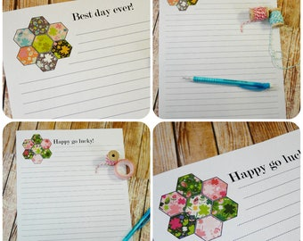 Best day ever & happy sheet stationary PDF - 2 in one hexie illustrations instant printable list