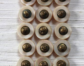 Vintage set of matching Mother of pearl buttons