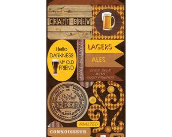 Craft Brew Cardstock Stickers
