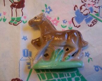 little glass horse figurine