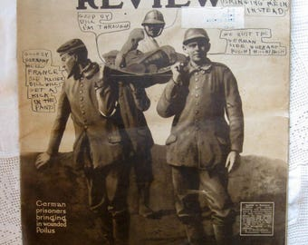 Vintage World War I Issue, The Illustrated Review, April 1918, WWI Memorabilia