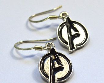 Avengers Logo Geeky Dangle Earring Nickel Free Wires