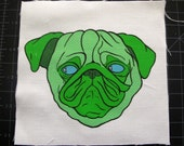 Green Pug Patch
