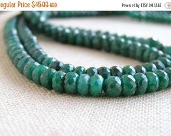 Black Friday Sale Emerald Gemstone Faceted Rondelle 4.5mm 45 beads