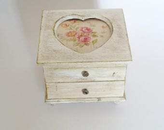 Vintage Distressed Jewelry Box