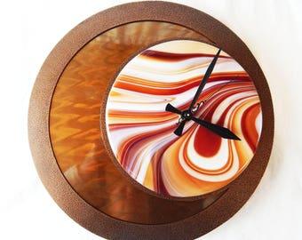 Fused glass/Metal Moon Clock