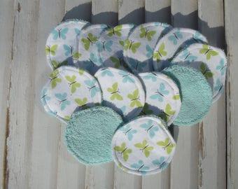 Set of 11 Reusable Face Scrubbies, Facial Rounds, Make Up pads,Lotion Applicators, Infant Washies