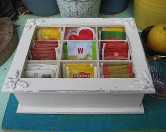 Creamy Tea Box Shabby Chic Style
