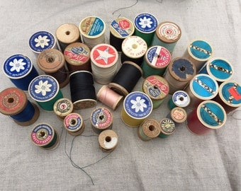 Vintage Spools of Thread