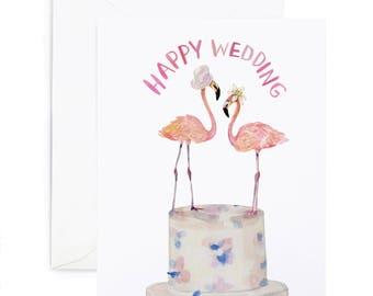 Flamingo Couple Card