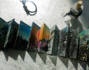The Collection of Beautiful Mountains HP Indigo Print Artist's Book [Mini Version]