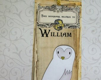HARRY POTTER BooKMarKs - House Crests, Emblems -  Laminated Bookmarks - Personalized - Made to Order - Custom - HPB 2213