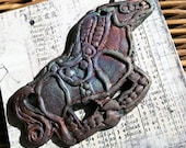 9. Anglo Saxon Inspired Raku Horse Medallion Wondrousstrange  Raku Pendant Cosplay Middle Ages