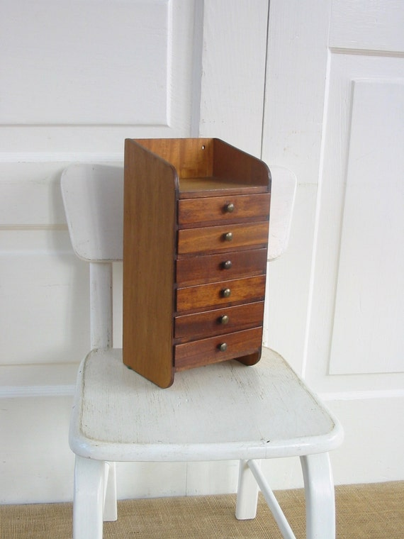 Vintage Wood Drawers Vintage Wood Jewelry Box Supply Storage