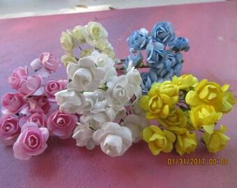 Paper Flowers, Wedding Flowers, Headband Flowers, Decorative Flowers, Tiny Flowers, Bouquet