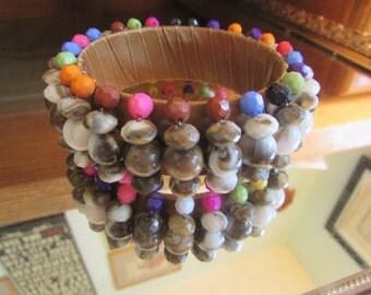 Colorful bead bangle