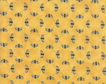 Bee Inspired Honey Yellow 19796 13   Deb Strain Designer   Moda Quilting fabric