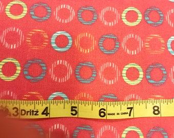 Columbus Circle Hot Pink & Red Waverly fabric   Waverly fabric   Cotton Twill fabric