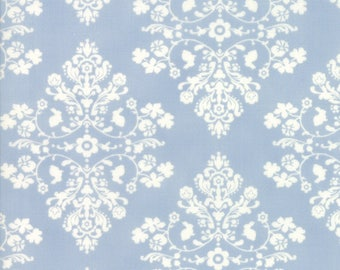 Lily Will Revisited Blue Damask Medallion fabric | Moda fabric 2802 42 | Cotton Quilting fabric