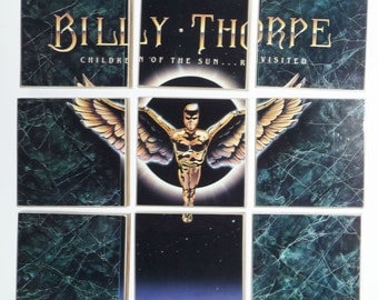 Billy Thorpe recycled Children of the Sun Revisited album cover coasters with vinyl record bowl