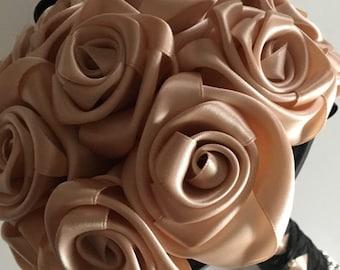 Wedding bouquet /rose bouquet /satin bouquet