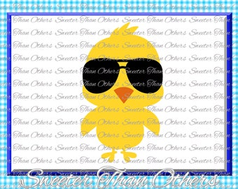 Chick with Shades Svg, Baby SVG, Chick Magnet, Boy Svg, Boy Cut file, Boy Tshirt Easter svg Dxf Silhouette Cricut INSTANT DOWNLOAD Scal, Mtc
