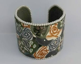 Handmade Bracelet, Handmade Jewelry, Unique Bracelet, Beaded Bracelet, Polymer Clay Bracelet,  Handcrafted Bracelet, Clay Bracelet