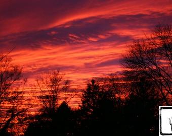 Color Photograph, fine art, photo print, wall art, home decor, clouds, sky, sunset, photography, nature, fotografia, fotografie