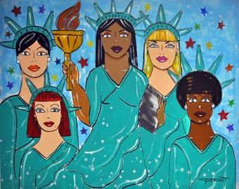 Liberty for All- Women's March Inspired Digital Photo Print