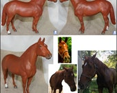 Custom Breyer Adios Portrait Horse (Red Chestnut)