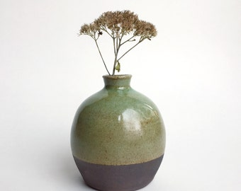 Globe vase - turquoise over oxide wash, perfect for airplants
