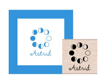 NEW for 2017 Moon Phases Personalized Rubber Stamp