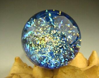 Dichroic Galaxy Marble Art Glass Orb Art Sphere Fibonacci Optical Illusion (ready to ship)