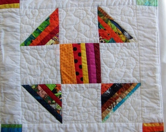 Quilted Table Runner Scrappy Strings Quilted Shoo Fly