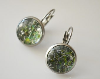"Seasons of Maine Winter Collection made with REAL Holly Leaves and fake ""snow""-Made in Maine Jewelry-Maine nature inspired jewelry"