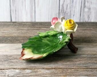 Spoon Rest Tea Bag Holder Tea Bag Rest Leaf Sculpture Decoative Spoon Rest