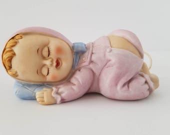Vintage Sleeping Baby Girl Night Light by Lego