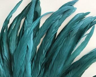 BELLISSIMA Tail Feathers  Loose /  Satin Juniper, Malibu Green / 196