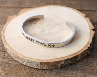 Cuff Bracelet - Boho Bracelet - Stamped Aluminum Bracelet - Fire Walk With Me - Twin Peaks - Dale Cooper - Laura Palmer