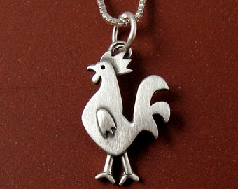 Tiny rooster necklace / pendant
