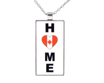 Canada Home is Where the Heart is Chain Necklace