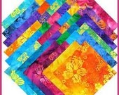 "5 Inch Charm Pack. Benartex ""Mai-Tie Bali Batik"" Charm Pack. Out of Print Charm Pack. Precut Fabric Squares."